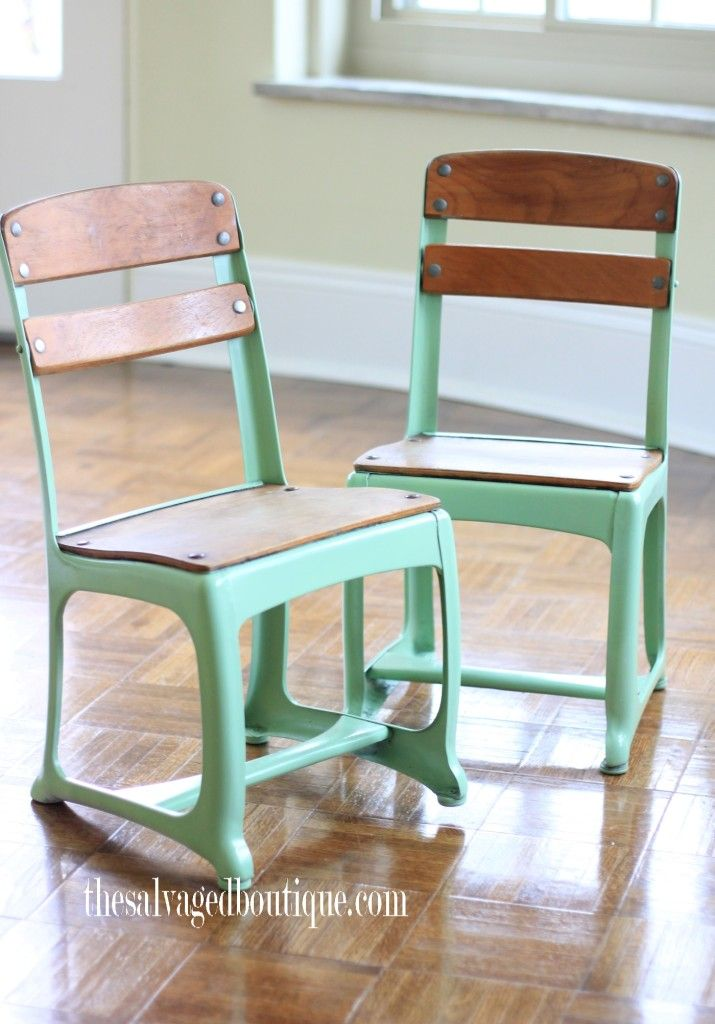 Little Vintage School Chairs Revitalized For A Day Care