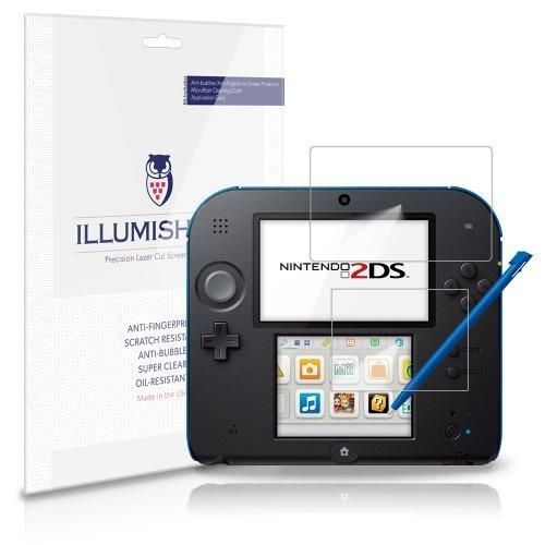 iLLumiShield - Game Nintendo 2DS Screen Protector Japanese Ultra Clear HD Film with Anti-Bubble and Anti-Fingerprint - High Quality (Invisible) LCD Shield - Lifetime Replacement Warranty - [3-Pack] OEM / Retail Packaging