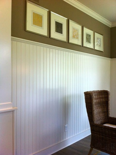 Love this wainscoting. You could change the color on the wall so easy!