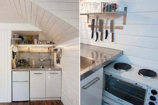 17 best images about tiny house plans on pinterest for Carriage house kitchen cabinets