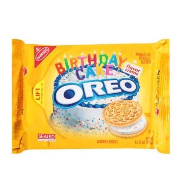Nabisco Oreos Golden Birthday Cake Flavor Creme Cookies 15.25 oz FS! #Nabisco #BiscuitsCookies