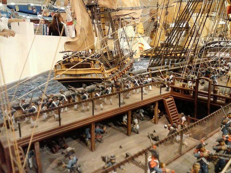 Diorama Barcos Santisima Trinidad Batalla Trafalgar 10