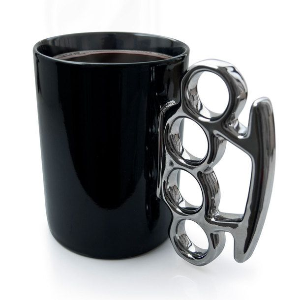 Knuckle Duster MUG! For days when people try to talk to you Before you've had your cup of coffee...