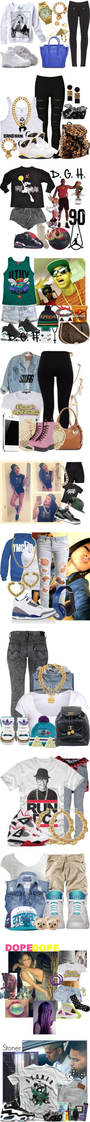 """""""swagg got chu"""" by calichica ❤ liked on Polyvore"""