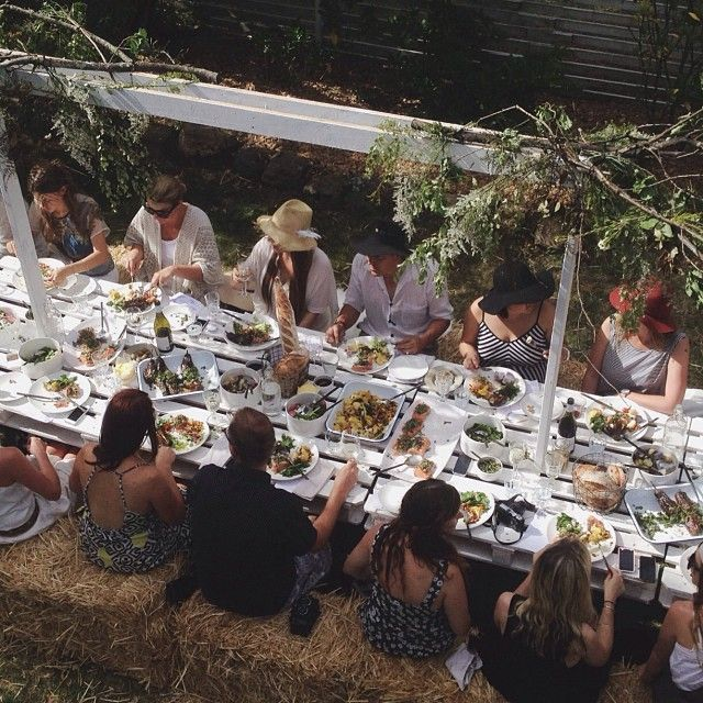 @luisabrimble | @Kinfolk Farm Magazine (kinfolk.com) kinfolk table long lunch at Lisa Madigan's Cottage