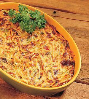 Helppo sadepäivän spagettivuoka