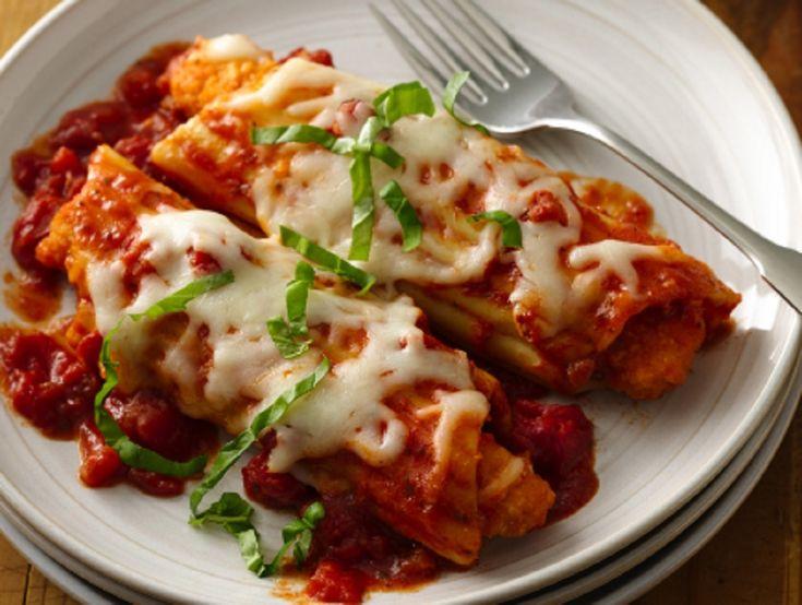 Recette : Manicotti à la saucisse italienne et au fromage.