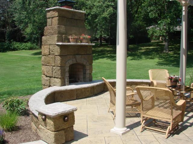 Stamped Concrete Fireplaces : Best images about stamped concrete fireplace idea board