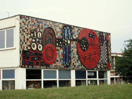 Imrich Vanek, 1969, keramická mozaika - reliéf, Tyršovo nábrežie, Košice, SR