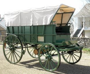A hand-crafted reproduction of a Civil War-era ambulance wagon is now on exhibit at Fort Scott National Historic Site in Kansas and will enhance visitor understanding of Fort Scott's role in America's bloodiest conflict.