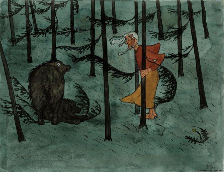 Hugo Simberg - Pelko metsässä (The fear of the woods) - 1896