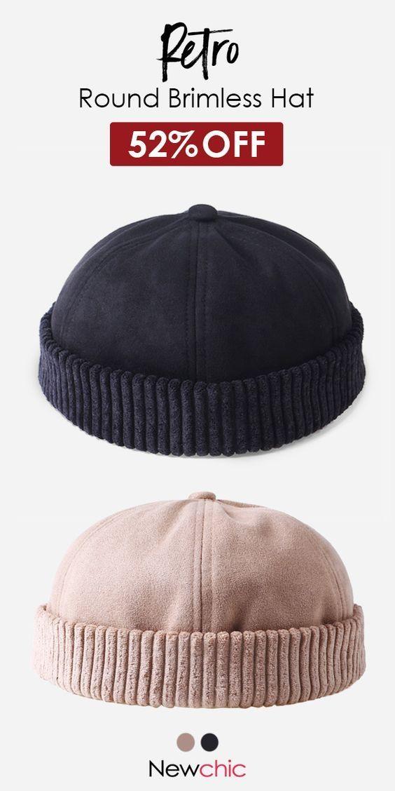 c6321c3111196 Men Women Retro Rolled Cuff Brimless Hat Skullcap Sailor Cap Worker Hat  Adjustable  cap  hat  vintage  fashion  style