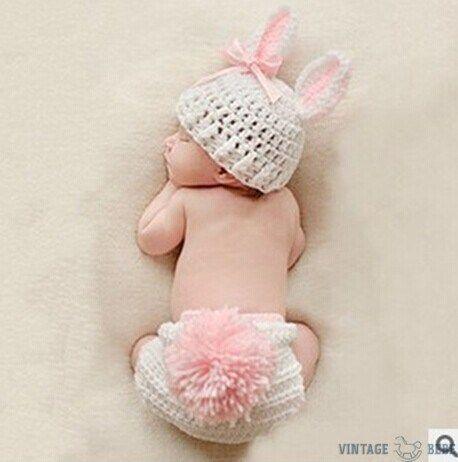 Rabbit Newborn Photo Outfit