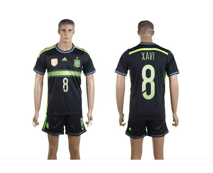 2014 World Cup Spain Football Shirt Set Away NO.8 Xavi