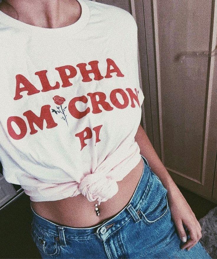 Alpha Omicron Pi tee  #AliAndAriel