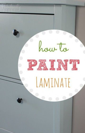 how to paint laminate furniture diy