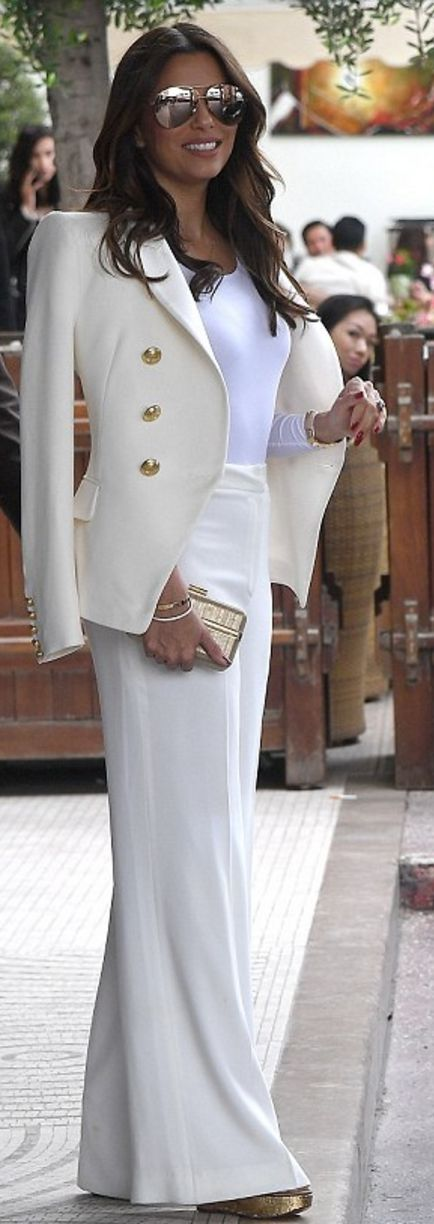 Eva Longoria: Sunglasses – Victoria Beckham Collection  Jacket – Balmain