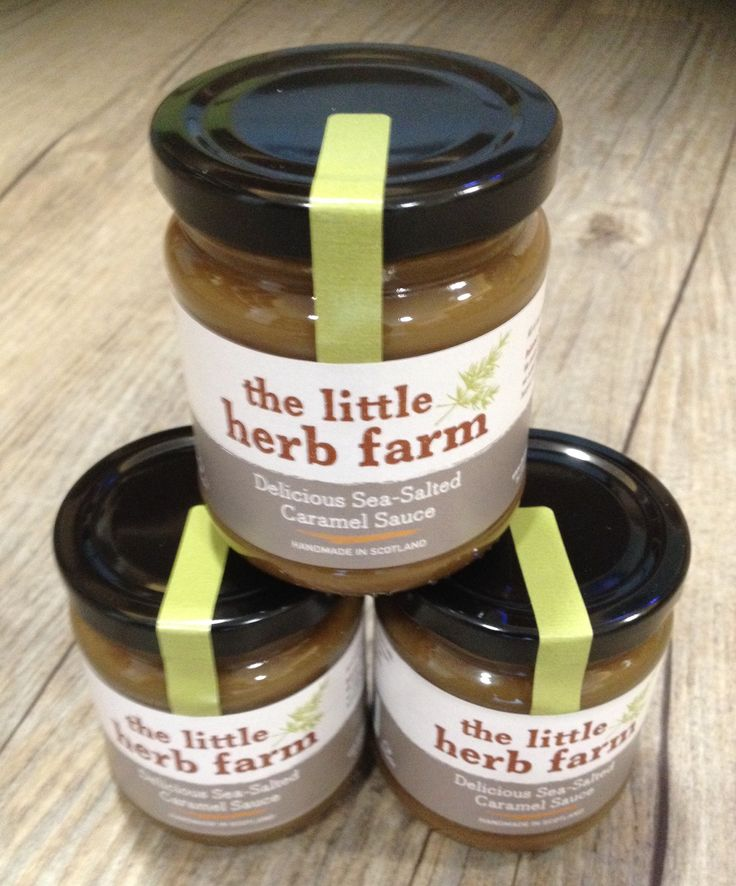 Delicious sea-salted caramel sauce from the #LittleHerbFarm