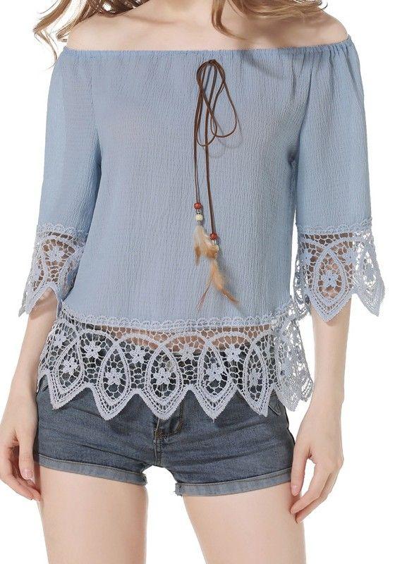 Resultado de imagen para blusa de encaje