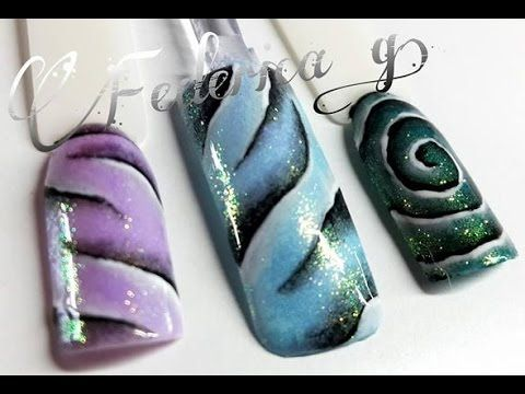 "Nail art ""Organza"" - YouTube"