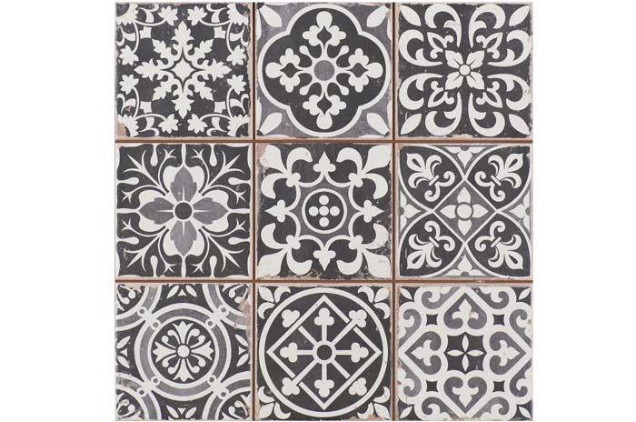 Imágenes de los azulejos de estética vintage referencia FS FAENZA-N