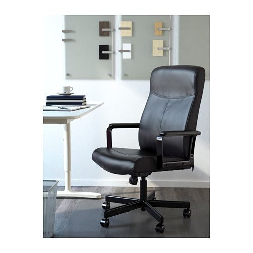IKEA MILLBERGET swivel chair You sit comfortably since the chair is adjustable in height.