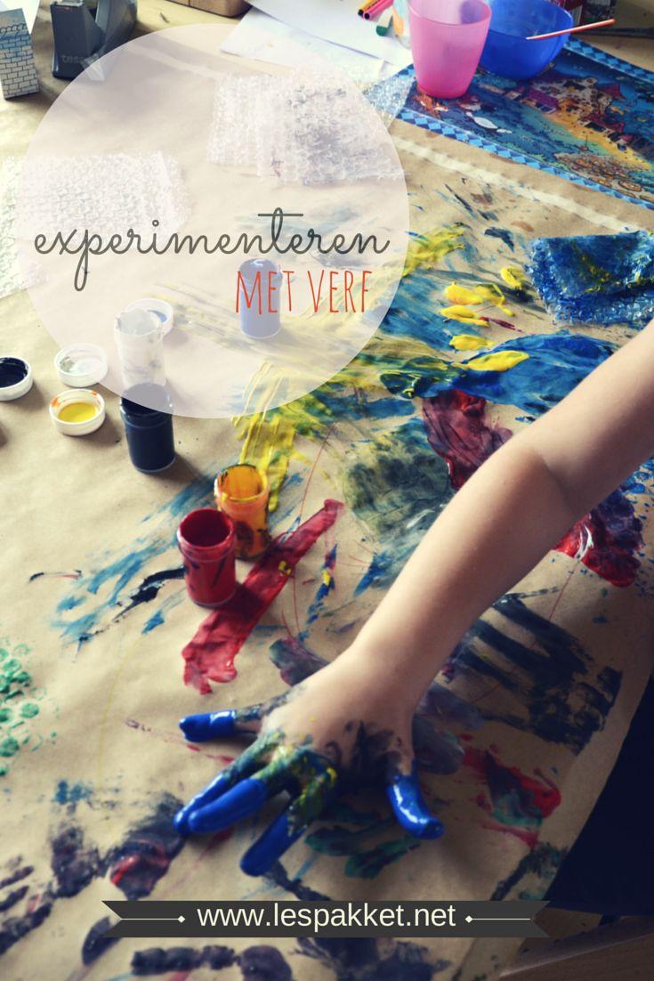 Experimenteren met verf
