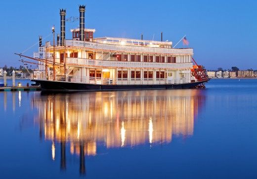 Take a cruise on the Bahia Belle Cruise  (Old William D. Evans Sternwheeler)  in the Mission Bay waters in San Diego, CA