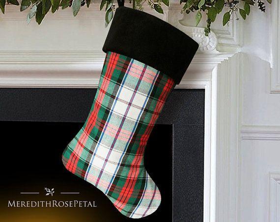 Best 25+ Plaid christmas stockings ideas on Pinterest
