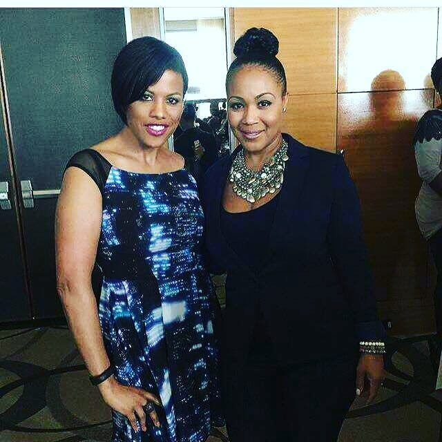 @ericacampbell looking beautiful and elegant in Razzmatazz! Erica is a huge fan of Traci Lynn Jewelry! We love her!  #fashionblog #jewelry #jewelrylover #celebritystyle #twitter