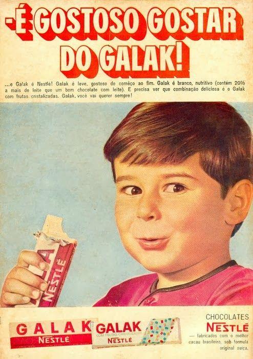 Propaganda do Chocolate Galak (Nestlé) em 1969