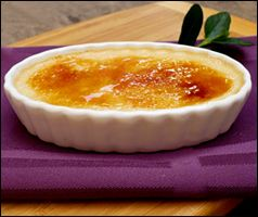 One of my favorite splurge desserts! Even better... This Creme Brûlée recipe is only 104 calories!!
