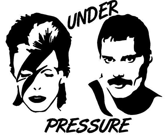 David and freddy under pressure decal instant potvinyl