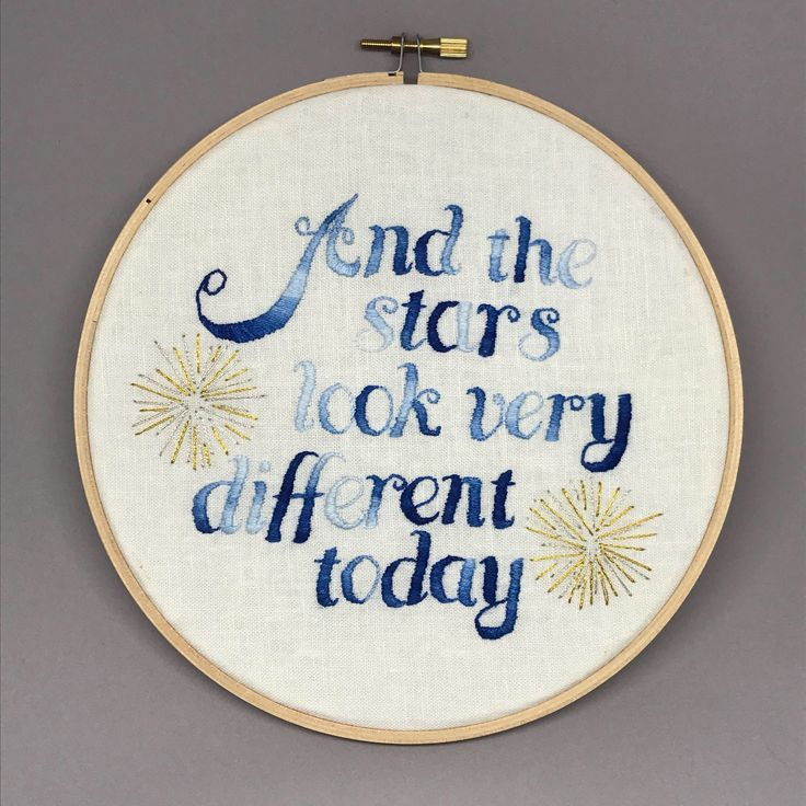 Excited to share the latest addition to my #etsy shop: Hand Embroidery. Bowie Quote. Hoop Art. Wall Art. Embroidery Hoop. Cross Stitch. Needlepoint.Satin stitch. Song lyric. Needle art. Decorate.