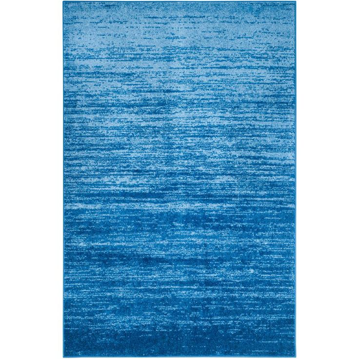Adirondack Light Blue/Dark Blue 5 Ft. 1 In. X 7 Ft.