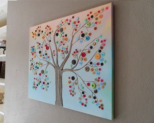 button tree wall décor- something I would love to create