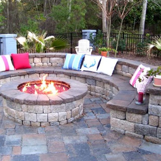 Backyard Fire Pit To The East Of The Deck With Seating
