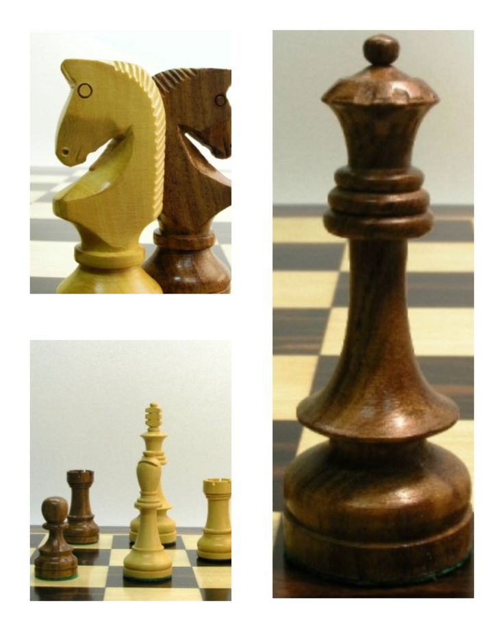Detailed Chess Set Part - 35: A Solid Wooden Russian Styled Chess Set. Beautiful Skirted Detail On The  King And Queen