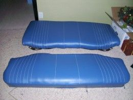 How to reupholster a vehicle bench seat.