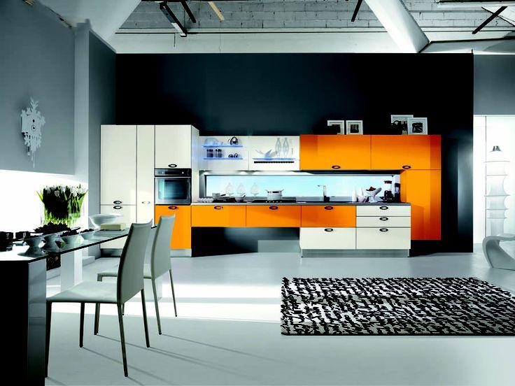 Cocina naranja #orange #kitchen | Cocinas | Pinterest ...