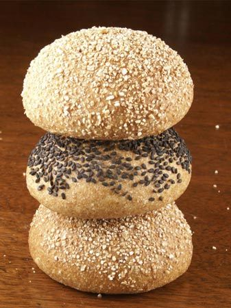 Sourdough Whole Wheat Hamburger Buns  Yield: 900 g (9 buns)  Time:  Mix: 15 minutes First fermentation : 2.5 hours with folds at 50 and 100 ...