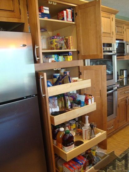22 best images about galley pantry on pinterest for Galley kitchen storage solutions