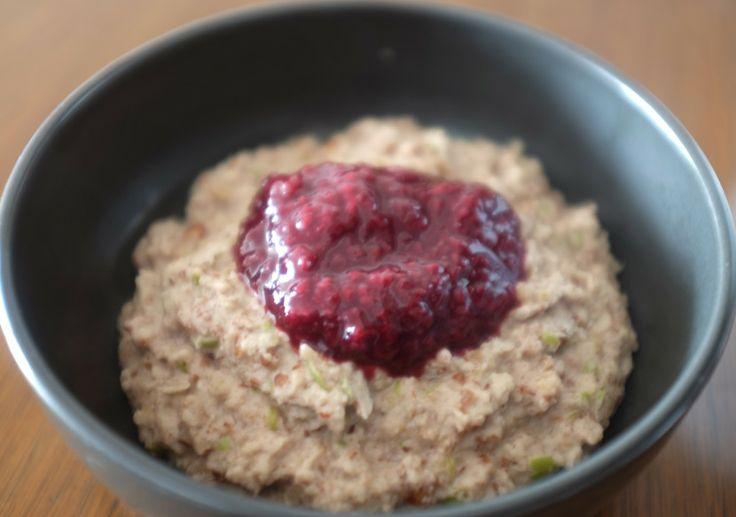 warm apple porridge #paleo #thermomix