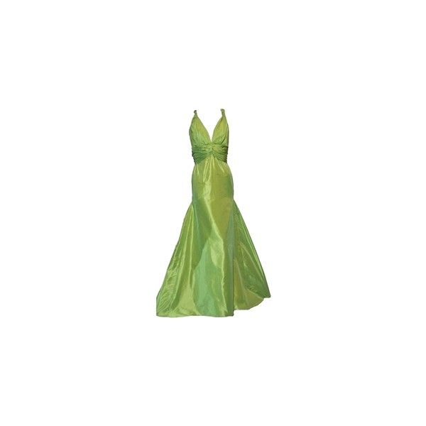 gown ❤ liked on Polyvore featuring dresses, gowns, green ball gown, green color dress, green evening dress, green gown and green evening gown