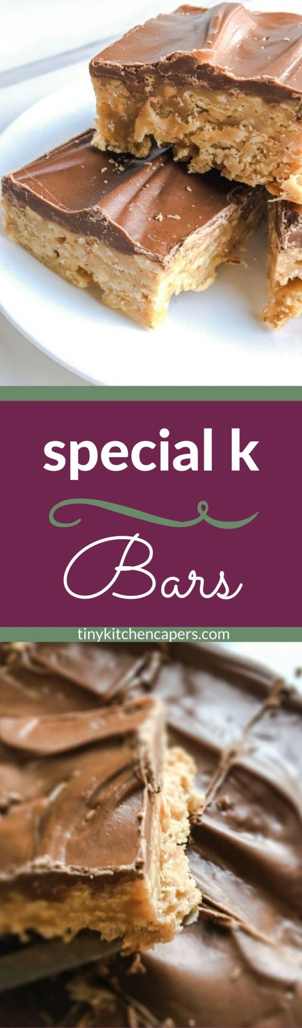 Special K Bars; easy, no-bake cookie bars made with chocolate, peanut butter, butterscotch, and Special K cereal | tinykitchencapers.com