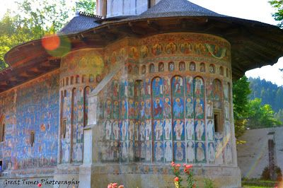 The Voronet Monastery is the most famous buildings of Stephan The Great, a monument included on the list of UNESCO's world heritage. Its frescoes speak of subtle esoteric knowledge held by medieval theologians of Moldavia and also of the skills of anonymous painters. http://greattimesphotography.blogspot.ro/2015/11/voronet-monastery.html