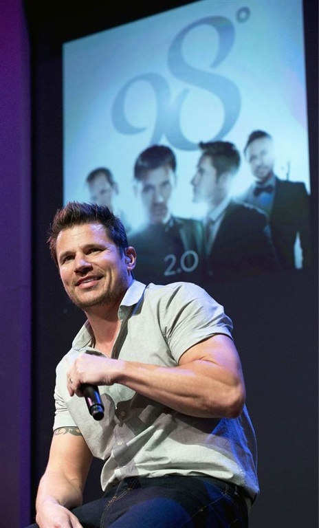 Nick Lachey, born in Cincinnati, Oh. Former member of the boy band 98 degrees, famous during the 1990s.  Lives in Cincinnati with wife Vanessa and two kids. Currently owns a local sports bar in a downtown Cincinnati neighborhood.