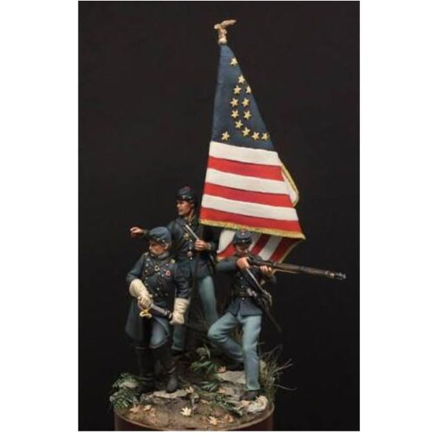 1:32 American Civil War Northern Army Soldier 54mm Resin Figure Unpainted Kit