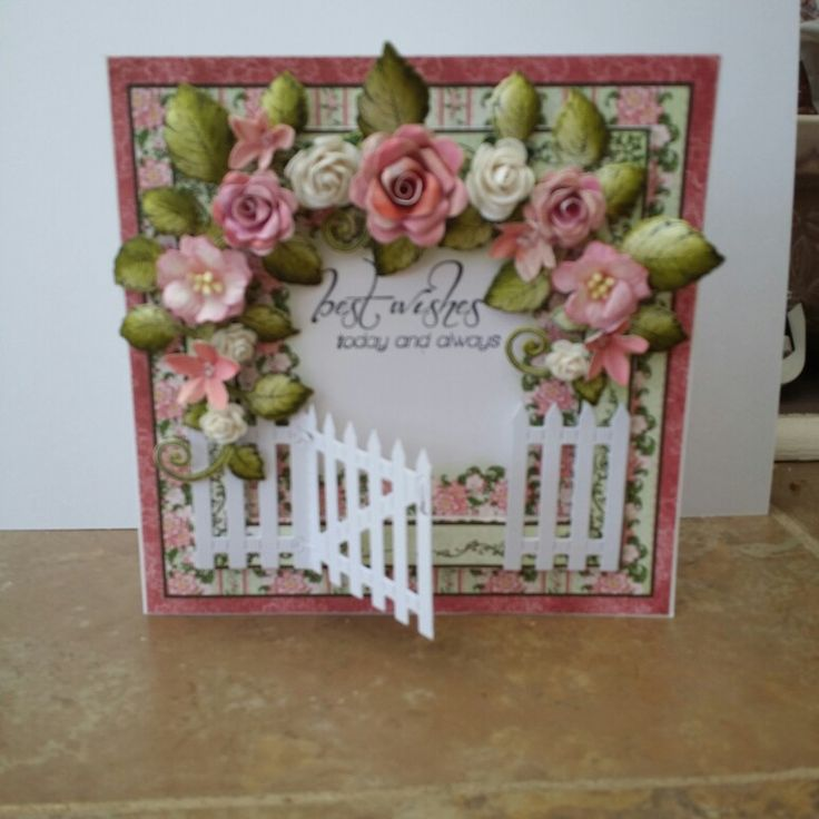 Heartfelt creations and tattered lace gate die.