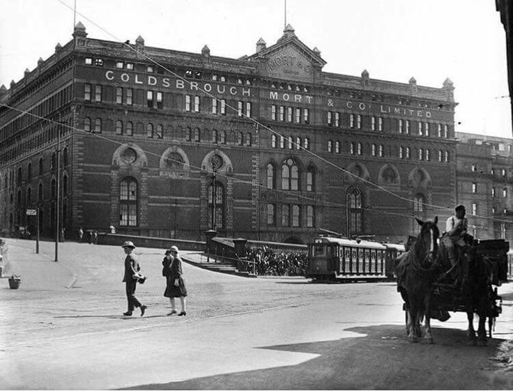 Goldsbrough Mort Wool Store at Circular Quay,Sydney in 1930. The AMP Building now stands here. •Fairfax Archives•
